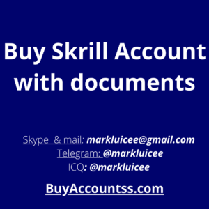 Buy Skrill Account with documents
