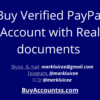 Buy Verified PayPal Account with Real documents