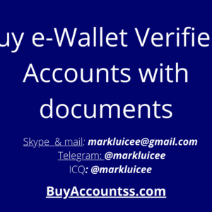 e-Wallet Verified accounts